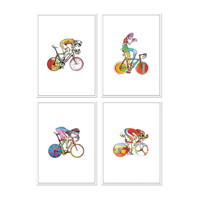 Cycling Cards #1 - Set of four
