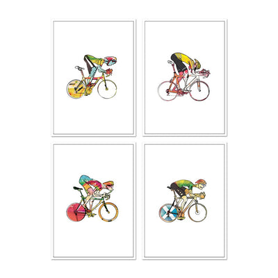 Cycling Cards #2 - Set of four