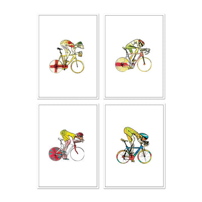 Cycling Cards #3 - Set of four