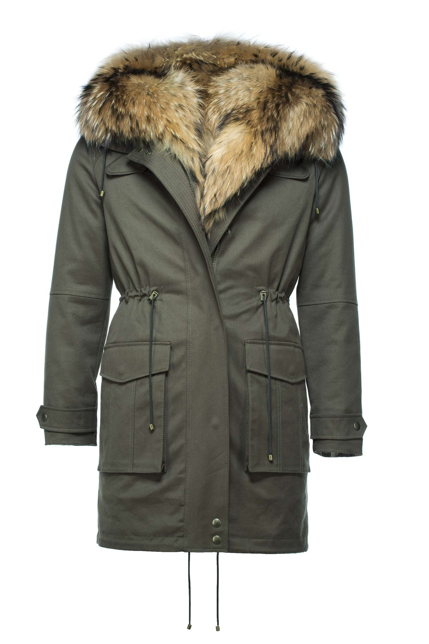 MEN's Fin Raccoon Fur Parka