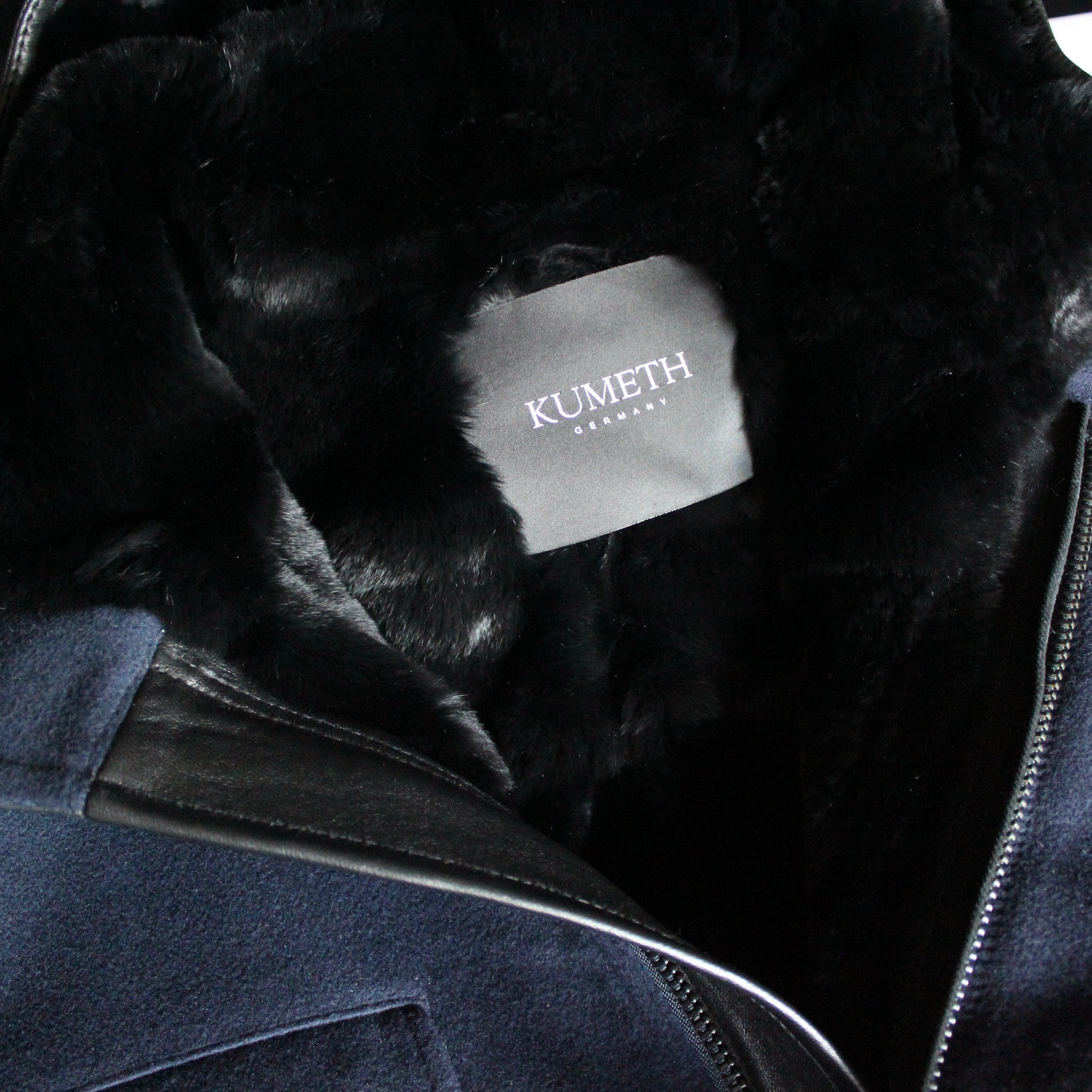 MEN's Rex Rabbit Fur Lined Cashmere Parka