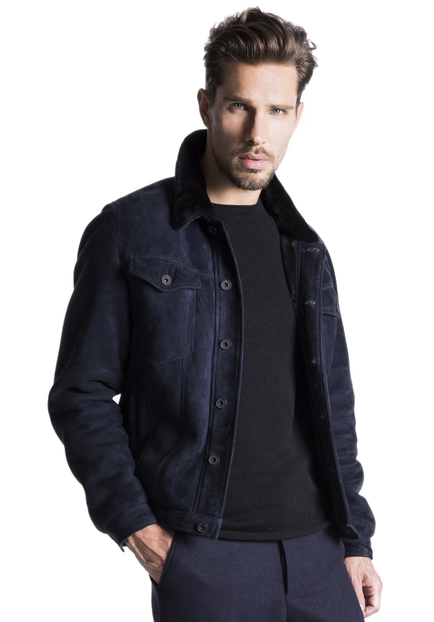 MEN's Lamb Shearling Jacket