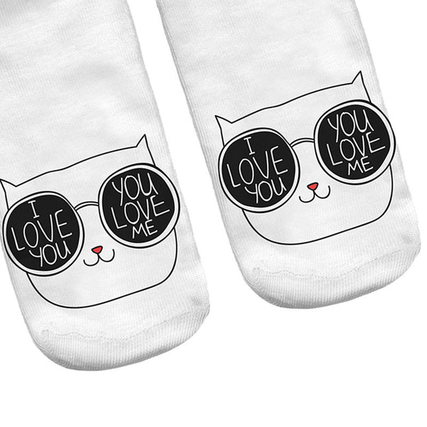 Cute In Love Cat Socks - Two Stupid Cats