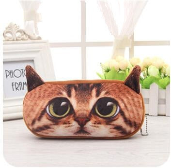 3D Cat Pencil Bag - Two Stupid Cats