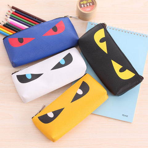 Cat Eyes Pencil Bag - Two Stupid Cats