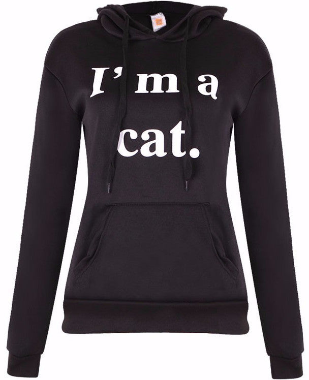I'm A Cat Hoodie - Two Stupid Cats