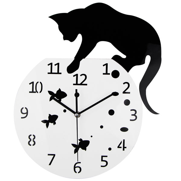 Cat Fishing Quartz Wall Clock - Two Stupid Cats