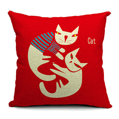 Designer Cat Cushion Cover Collection - Two Stupid Cats