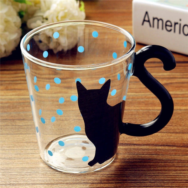 Lovely Cat Tail Glass Mugs - Two Stupid Cats