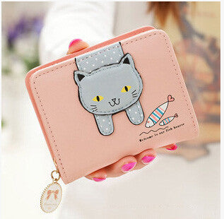 Cute Cat Candy Girls Wallet - Two Stupid Cats