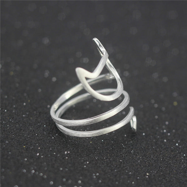 Sterling Silver Twine Cat Ring - Two Stupid Cats