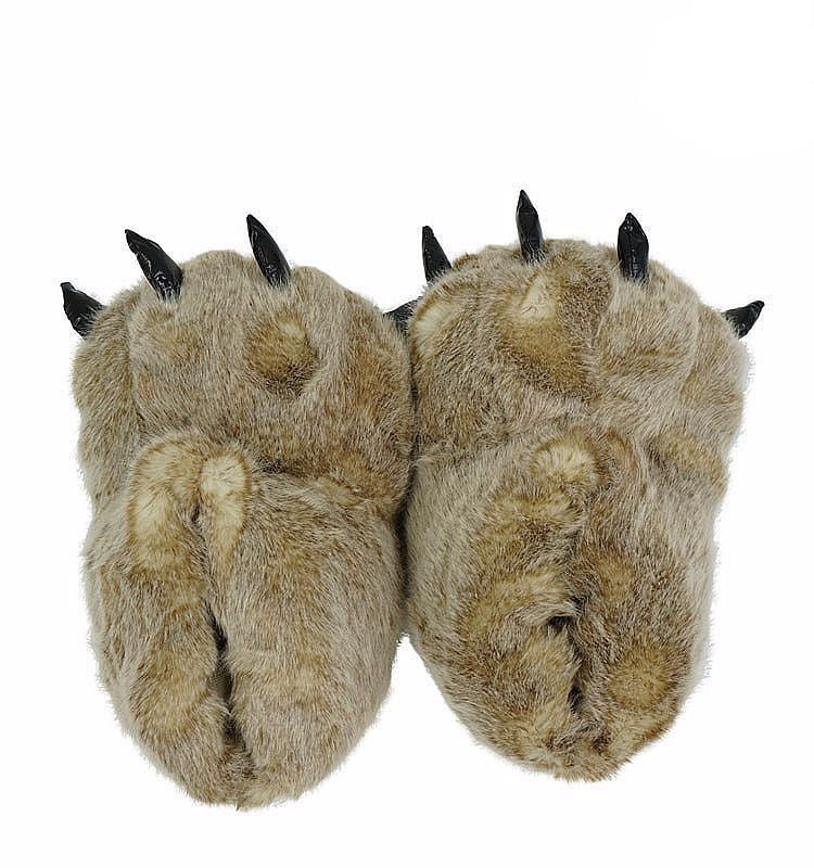 Furry Claw Slippers - Two Stupid Cats