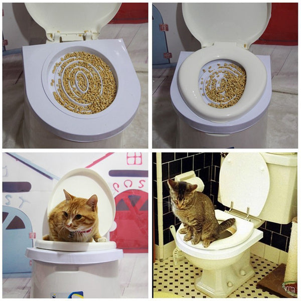 Cat Toilet Training Kit Simple - Two Stupid Cats