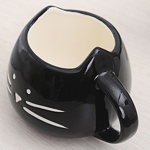 Whiskers Mug Black - Two Stupid Cats