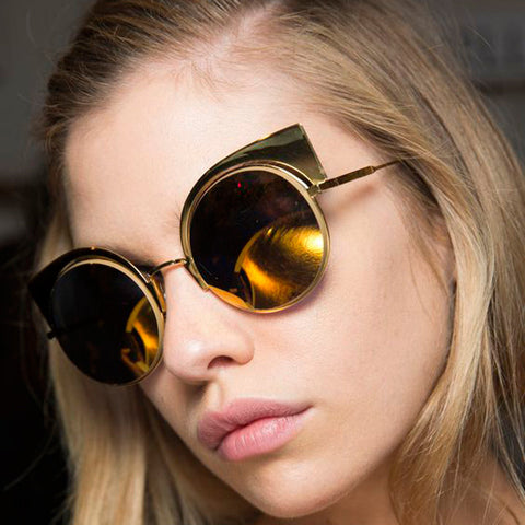 Women's Round Cat Eye Sunglasses - Two Stupid Cats