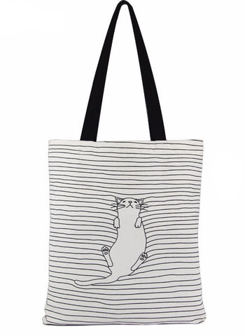 Napping Cat Shopper Bag - Two Stupid Cats