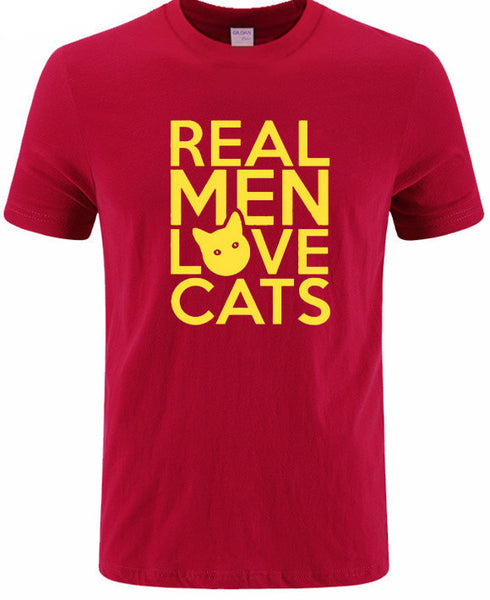 Real Men Love Cats II T-Shirt - Two Stupid Cats