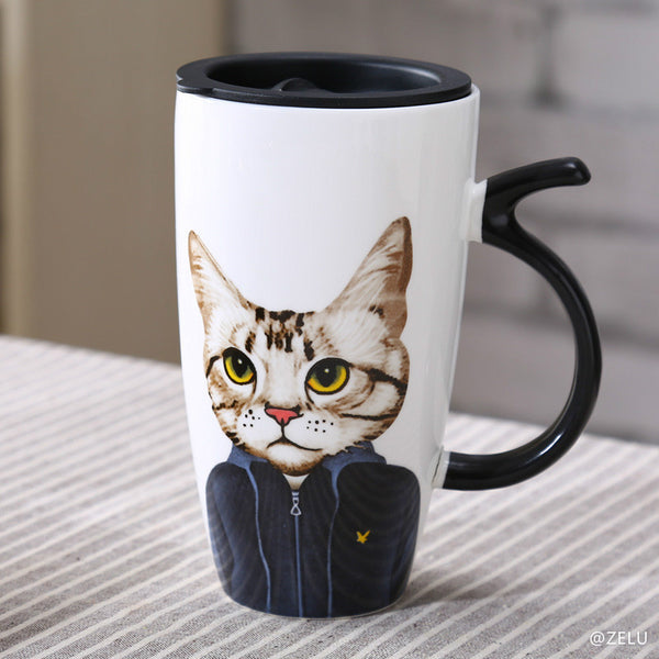 Mr. Cat Mug 500 ml - Two Stupid Cats