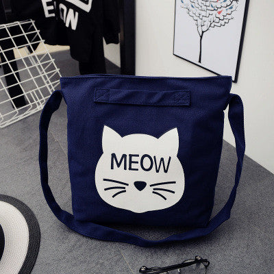 Meow Spring Canvas Bag