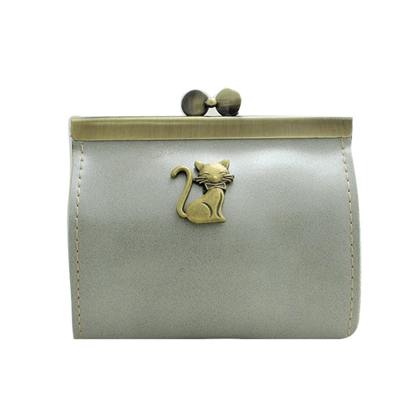 Women's Retro Cat Coin Purse - Two Stupid Cats