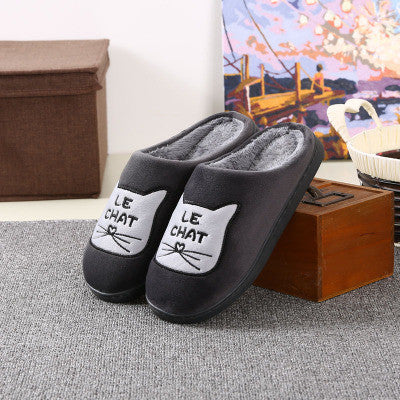 Le Chat Home Slippers - Two Stupid Cats