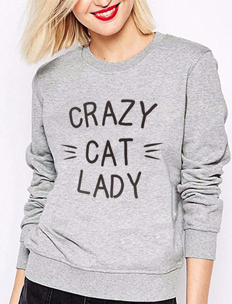 Crazy Cat Lady Sweatshirt - Two Stupid Cats