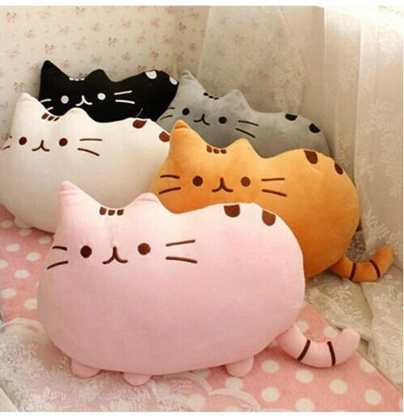 Cat Shape Plush Pillow - Two Stupid Cats