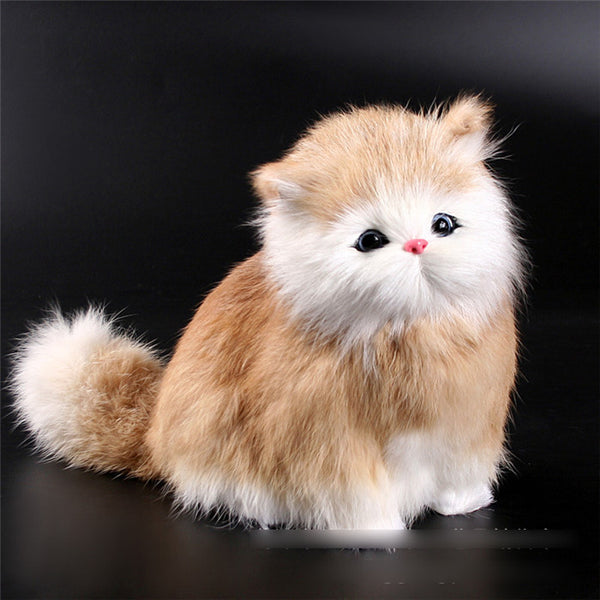 Fluffy Meowing Kitty Plush Toy - Two Stupid Cats