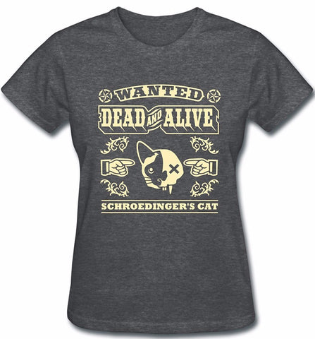 Schroedinger's Cat Dead and Alive T-shirt - Two Stupid Cats