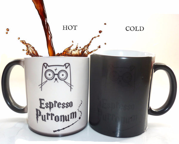 Espresso Purronum Magic Mug - Two Stupid Cats