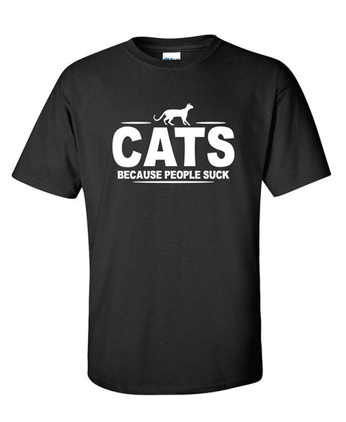Cats Because People Suck T-shirt - Two Stupid Cats