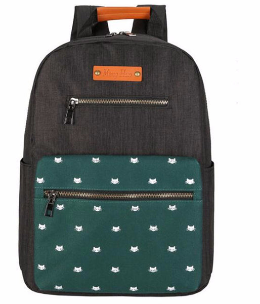 High Quality Panelled Kitty Pattern Backpack - Two Stupid Cats