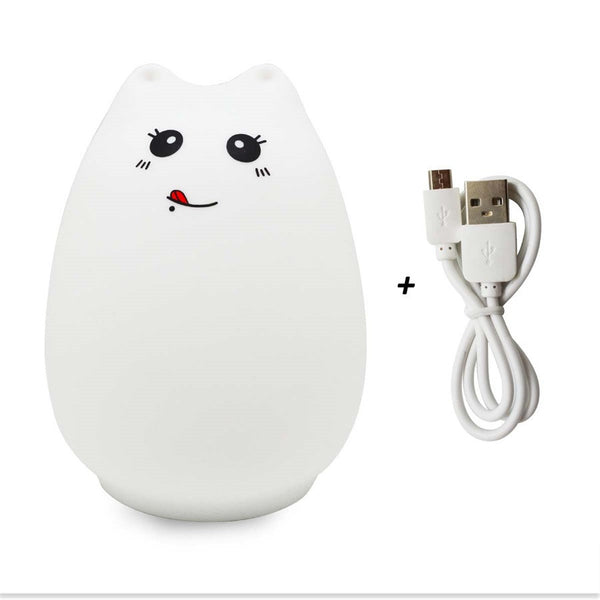 Cute Cat Silicone Baby Led Light - Two Stupid Cats