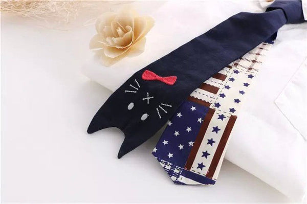 Cute Cat Tie Women's Shirt - Two Stupid Cats