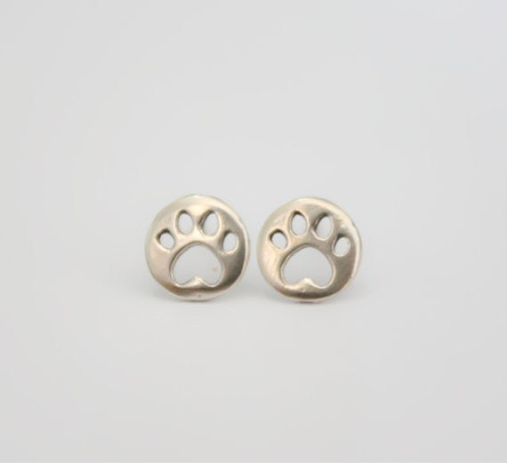 Cute Cat Paw Stud Earrings - Two Stupid Cats