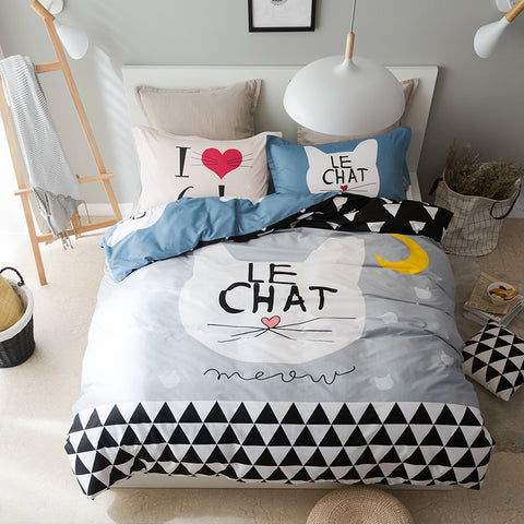 Le Chat High Quality Novelty Cotton Bedding Set