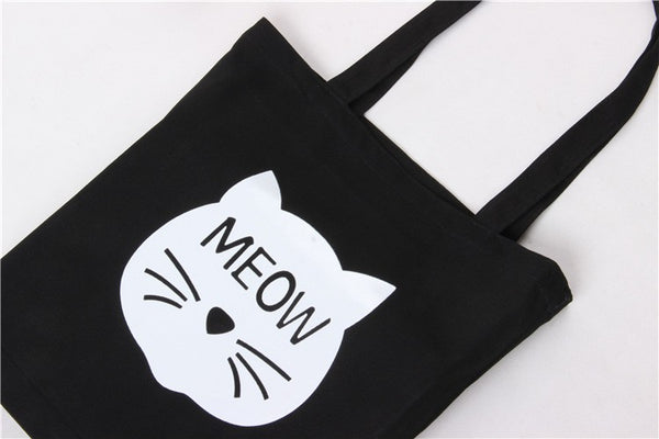 Meow Spring Canvas Bag - Lace