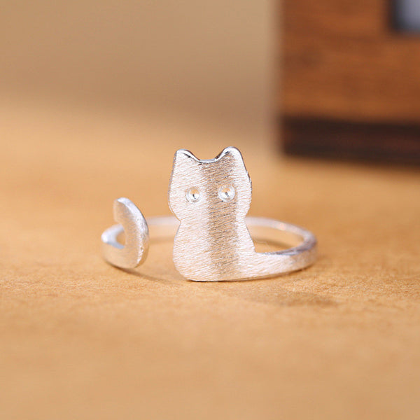 Long Tail Kitty Ring - Two Stupid Cats