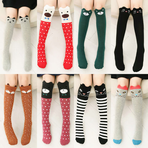 Adorable Cat Knee Socks - Two Stupid Cats