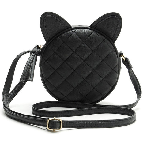 Elegant Leather Cat Shoulder Bag - Two Stupid Cats