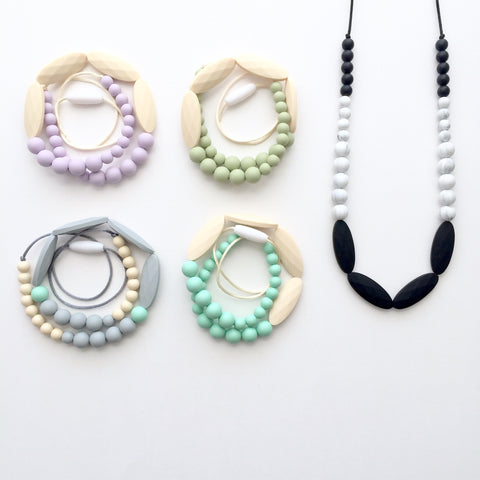The Cameron Teething Necklace | 8 color options