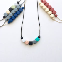 The Reese Hexagon Teething Necklace | 10+ Color Options