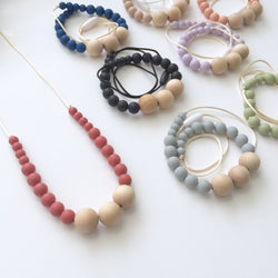 The Willow Classic Wood + Silicone Necklace | 10 color options