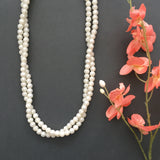 The Vivien Twisted Double Strand Pearl-Look Necklace