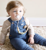 The Shiloh Wood + Silicone Pacifier Clip