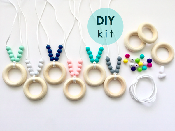 The Autumn DIY Kit -or- Premade | Organic Wood + Silicone Necklace | 15 Color Options