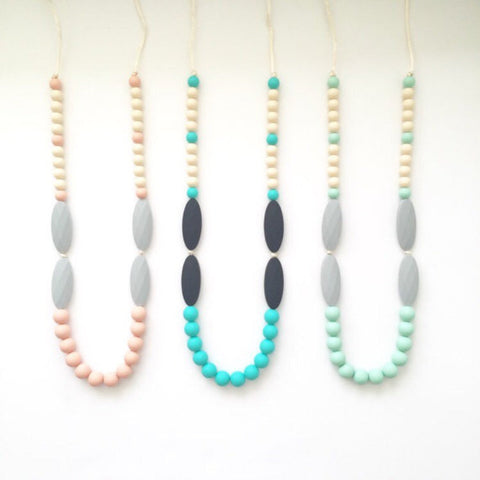 The Alessandra Teething Necklace | 5 color options