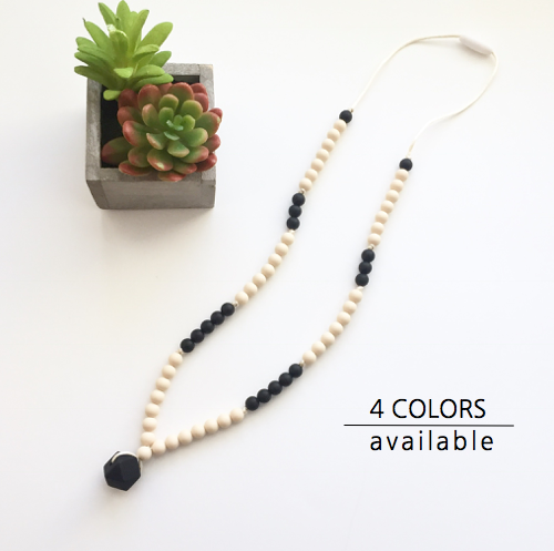 The Cora Teething Necklace | 4 color options