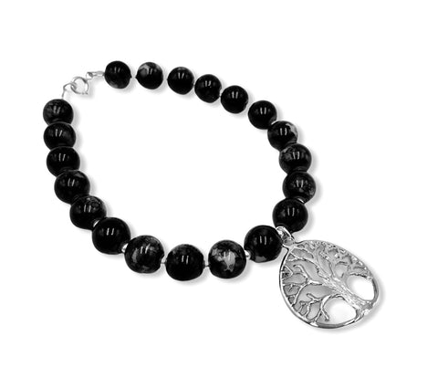 Tree of Life Crystal Bracelet 7.3""