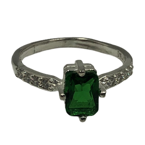 CZ Rectangle Ring #7